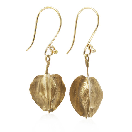 bronze combretum seed pod earrings
