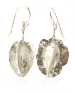 sterling silver comretum seed pod earrings