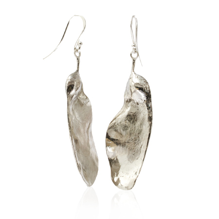 sterling silver helicopter seed pod earrings