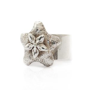 sterling silver wax plant ring